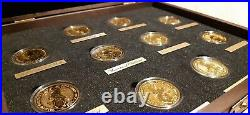 Complete and unique collection of Queen's Beasts 10 coins 1oz gold