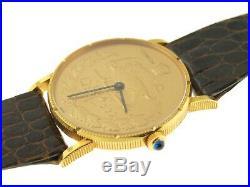 Corum 18 k yellow gold coin watch, Iranian shaw Pahalari collection