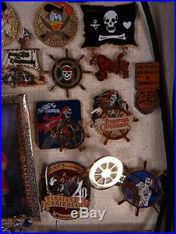 DISNEY PIRATES of the CARIBBEAN PIN SET SIGN PLAQUE GOLD SILVER COIN BRACELET XL