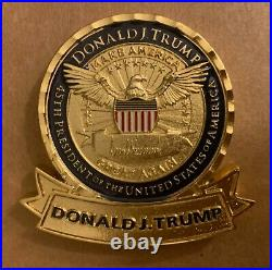 DONALD J TRUMP CHALLENGE COIN PERSONAL PRESIDENT WHITE HOUSE GOLD Item #10001