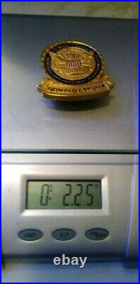 DONALD J TRUMP CHALLENGE COIN PERSONAL PRESIDENT WHITE HOUSE GOLD Item #10002