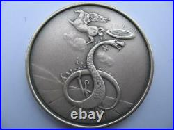 Dan From The 12 Tribes Of Israel Salvador Dali Pure Silver 3-oz. Coin+gold