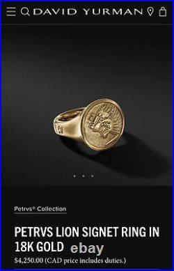 David Yurman Gold ring Size 9.5 Rare Petrvs Collection