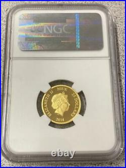 Disney 2014 NIUE Gold G$25 STEAMBOAT WILLIE Mickey Mouse NGC PF70 Ultra Cam