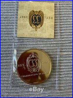 Disney Disneyland Club 33 Challenge Gold Coin 50th Anniversary Members Only NEW