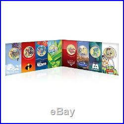 Disney Pixar Collection Gold Coin / Medal Complete Pack