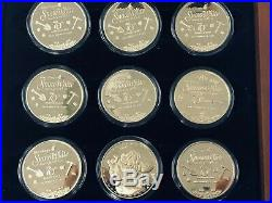Disney SNOW WHITE 24Kt Gold Overlay Coin Set 70th Anniversary LIMITED EDITION