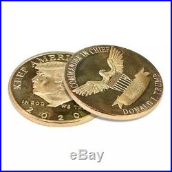 Donald Trump Coin 2020 Keep America Great Coin Patriotic Gold Challenge Coin