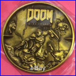 Doom Eternal 3D Gold Metal Challenge Coin Military Exclusive limited
