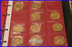Egypt Gold Coin Collection of 35 gold coins