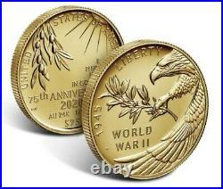 End of World War II 75th Anniversary 24-Karat Gold Coin Order Confirmed