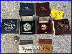 End of World War II 75th Anniversary 24-Karat Gold Coin & Silver Medal IN HAND