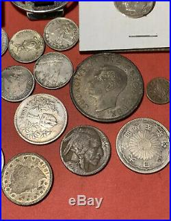 Estate Collection Old US Coins & Foreign Silver & Gold Rare Coins