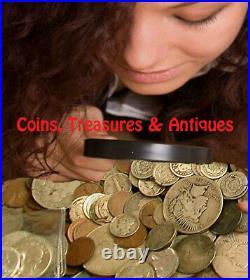 Estate Hoard Coin Collection Bullion Sale Treasures. 999 Bullion Silver Gold