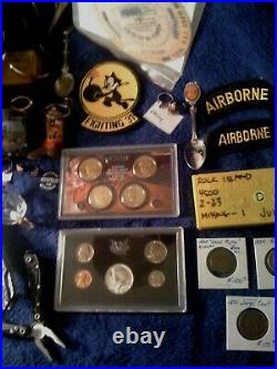 Estate Junk Drawer Includes Gold Silver Antique Coins Jewelry And More