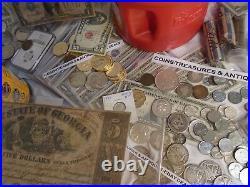 Estate Old Vintage Us Coins, Gold, Silver. 999 Bullion, Platinum, Currency, Stamps