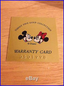 Exceptionally Rare Mickey and Minnie 999.9 1/10 oz. Gold Coin