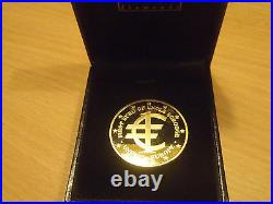 Extremely Rare! Gold Walt Disney First Euro of Uncle Scrooge School Sample Coin
