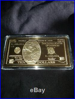 Extremely Rare! Scrooge McDuck Ten Dollar Gold Banknote LE of 150 Coin Bar