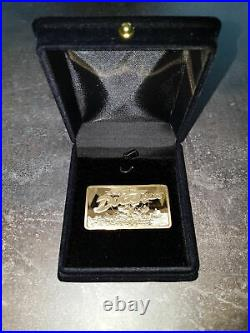 Extremely Rare! Walt Disney Ducktales Gold Plated 24K LE of 2000 Bar Number One