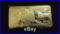 Extremely Rare! Walt Disney Scrooge McDuck 100 Dollar Buckeyes Giant Gold Bar LE
