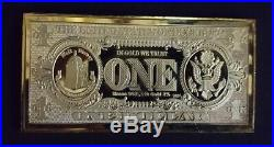 Extremely Rare! Walt Disney Scrooge McDuck $1 Duckburg Gold Banknote LE Bar Coin