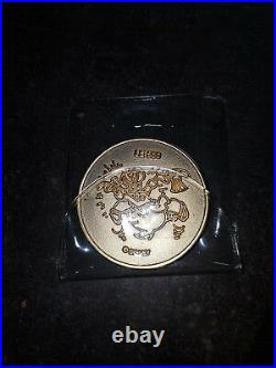Extremely Rare! Walt Disney Scrooge McDuck German LE of 500 24K Gold Plated Coin