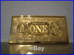 Extremely Rare! Walt Disney Uncle Scrooge $1 Duckburg Gold Banknote LE Bar Coin