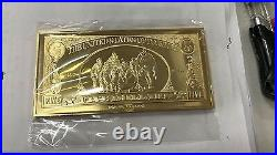 Extremely Rare! Walt Disney Uncle Scrooge $5 Duckburg Gold Banknote LE Bar Coin