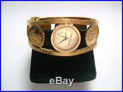 Franklin Mint Golden Caribbean Coin Watch