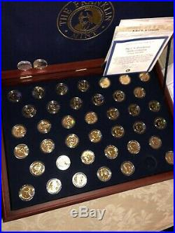 Franklin Mint Presidential Layered in 24 Karat Gold Coin Collection