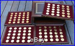 Franklin Mint The Treasures of the Renaissance Gold on Sterling Medals Coins Set
