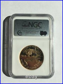 GOLD COLLECTABLE PROOF 1oz $50 AMERICAN EAGLE 1986 W NGC PF 70 UC