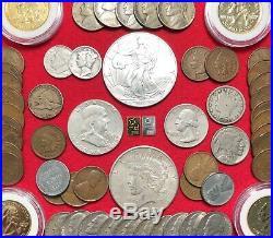 GOLD PLATINUM & SILVER Bullion US Coin Collection Lot 1 OZ. 999 Eagle 100+ Coins