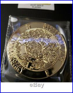 Garbage Pail Kids 24KT Gold Plated Topps Licensed Challenge Coin #2 RARE #/35