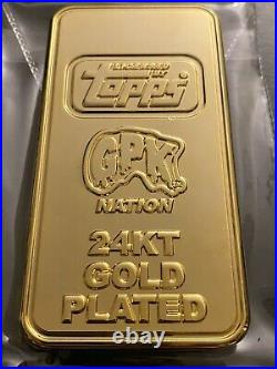 Garbage Pail Kids 35th Gold Bar Coin Officially Licensed Topps 24KT #003/100