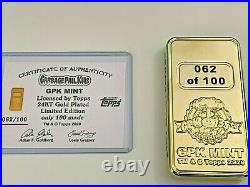 Garbage Pail Kids Adam Bomb Bar Coin Officially Licensed Topps 24KT Gold plated