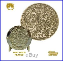 Garbage Pail Kids Challenge Coin #1 24k Gold Plated Topps Licensed Rare #/35