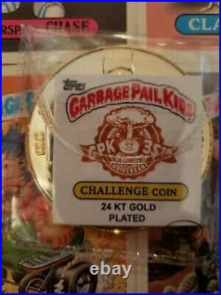 Garbage Pail Kids Challenge Coin #2 24k Gold Plated Topps GPK only 35 minted