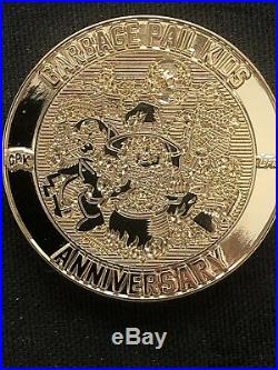 Garbage Pail Kids Challenge Coin #2 24k Gold Plated Topps Licensed Rare #/35