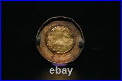 Genuine Ancient Byzantine Gold Coin Button Weighing 4.1 Grams Ca 419 518 A. D