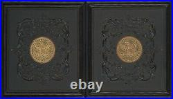Gold Coin Thermoplastic 1/6 Plate Case Daguerreotype Ambrotype Tintype C468