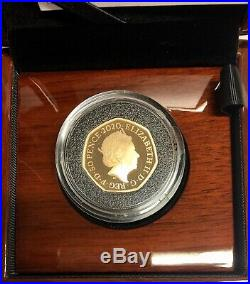 Gold Proof 50p Megalosaurus 2020 Coin, Dinosauria Collection Royal Mint. COA 251