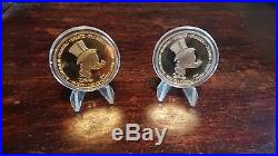 Goldcoin and silvercoin, Limited Edition Disney Scrooge McDuck, 1 Euro