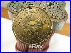 Golden Gate Bridge Original Suspender Cable Piece with Medallion Coin History CA