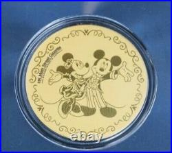 HKDL Hong Kong Disney 999 Gold Coin 2020 15 Anniversary Mickey Minnie LE500