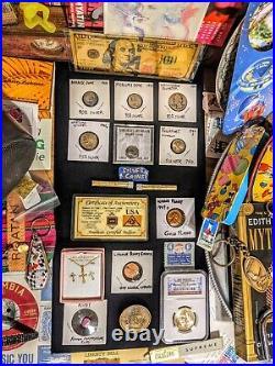 HUGE 29lb Vintage JUNK DRAWER LOT Rome SILVER Coins GOLD Fun Comics TOYS
