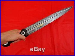 HUGE ANTIQUE DAGGER RUSSIAN CAUCASIAN GOLD DECORATED KINDJAL SWORD silver coins