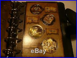 Harry Potter Coin Collection. In 24k gold full set of 24 coins in book, stunning