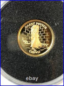 Harry Potter Coins 6-24ct GOLD PROOF 2002 Pobjoy Mint Isle of Man UK purple case